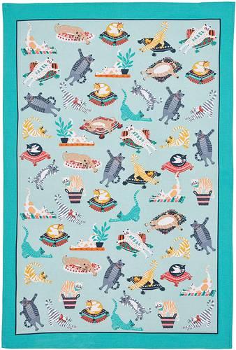 ASCIUGAPIATTI - TEA TOWEL COTONE gatti kitty cats