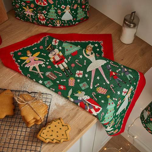Asciugapiatti - tea towel cotone natale schiaccianoci