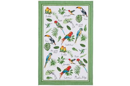 Asciugapiatti - tea towel cotone pappagalli tropical birds
