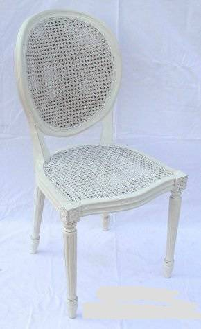 Sedia viennese bianca