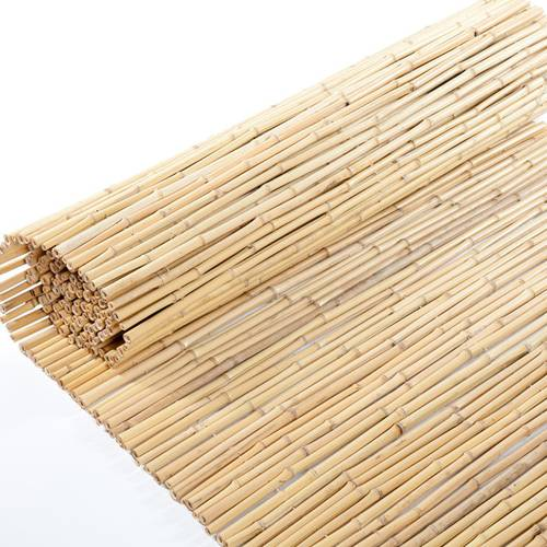 Stuoia canne di bambu' infilate