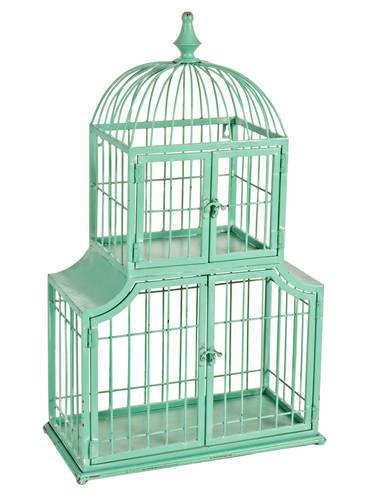 Gabbia pagoda ferro verde 4 ante