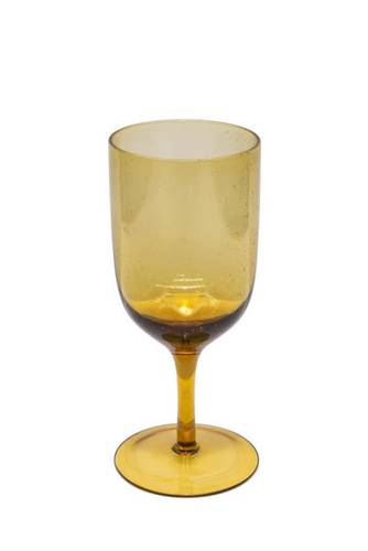 Bicchiere calice bollicine ambra vetro 6 pz