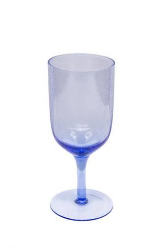 Bicchiere calice bollicine azzurro vetro 6 pz