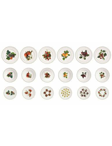 Servizio piatti frutti Le Primizie porcellana 18pz