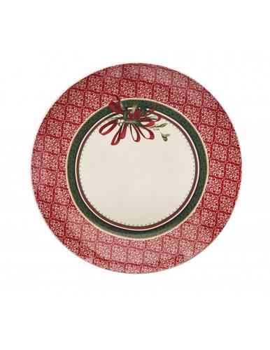 Piatto portata Cantico bordo rosso cm30,5