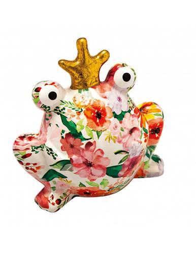 Salvadanaio rana ceramica colorata