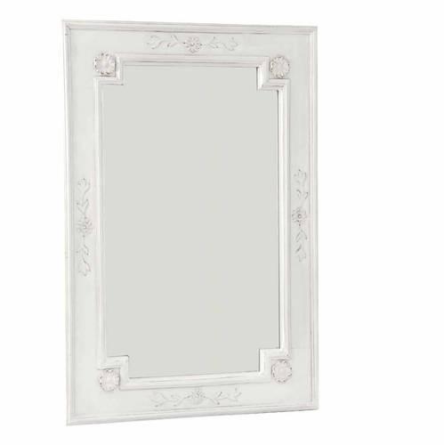 Specchio legno rettangolare bianco decor 55x80