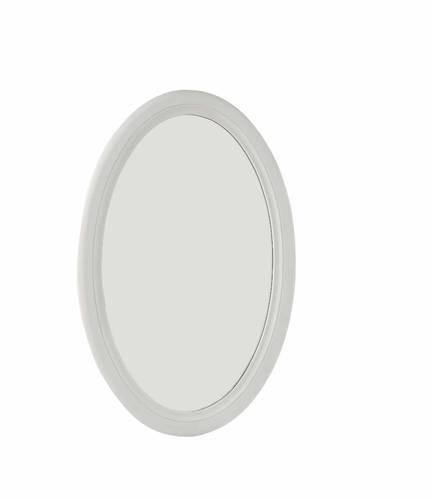 Specchio legno ovale bianco 47x70