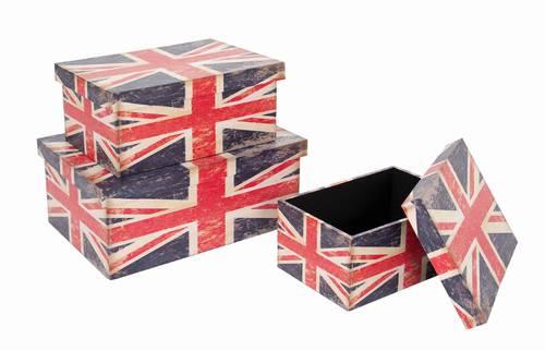 Scatola London legno bandiera inglese