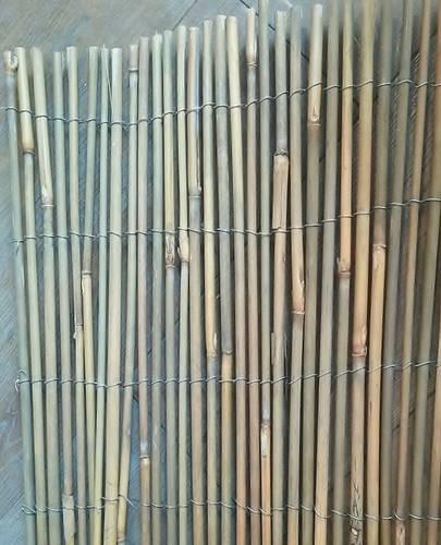 Stuoia canne di bambu' legate