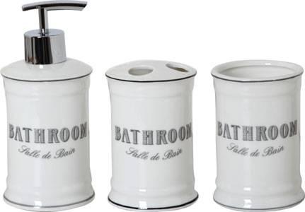 """Accessori bagno 3pz """"Bathroom"""""""