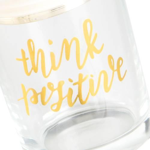Accessori bagno 3pz vetro trasparente finiture oro Think Positive