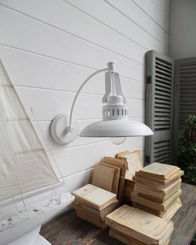 Applique metallo bianco campana vintage