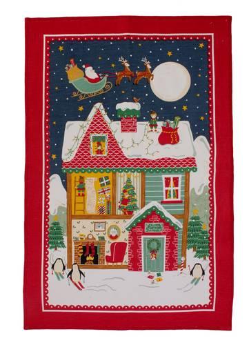Asciugapiatti - tea towel lino casa natalizia