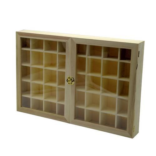 Bacheca 2 ante vetro legno grezzo