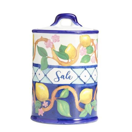 Barattolo Limoni sale ceramica colorata