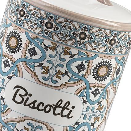 Barattolo Noto biscotti ceramica colorata azzurra