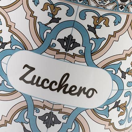 Barattolo Noto zucchero ceramica colorata azzurra