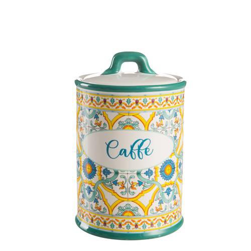 Barattolo Ortigia caffe ceramica colorata