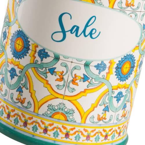 Barattolo Ortigia sale ceramica colorata