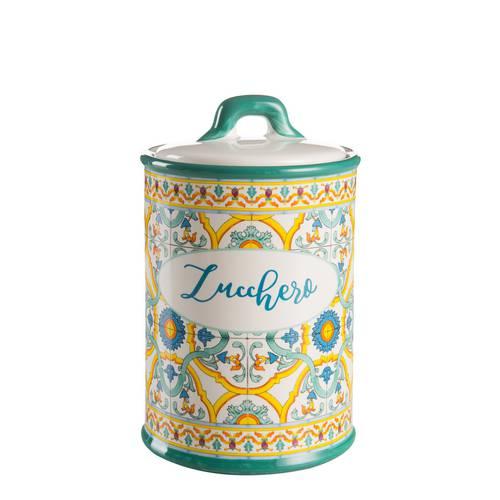 Barattolo Ortigia zucchero ceramica colorata