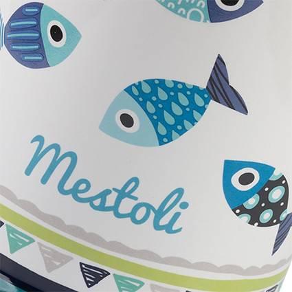 Barattolo Pesci blu porta mestoli ceramica colorata