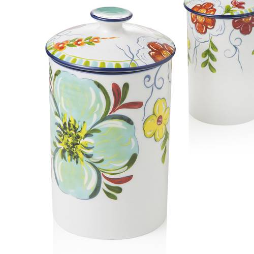 Barattolo frida ceramica decoro fiori 23h