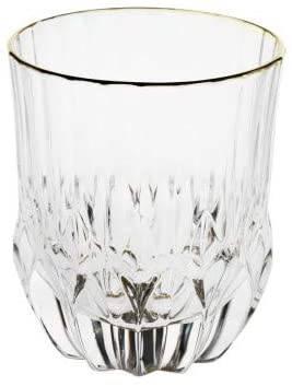 Bicchiere acqua crystal glass filo oro 6 pz