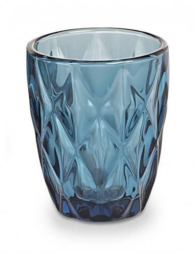 Bicchiere acqua vetro diamante blu 6pz