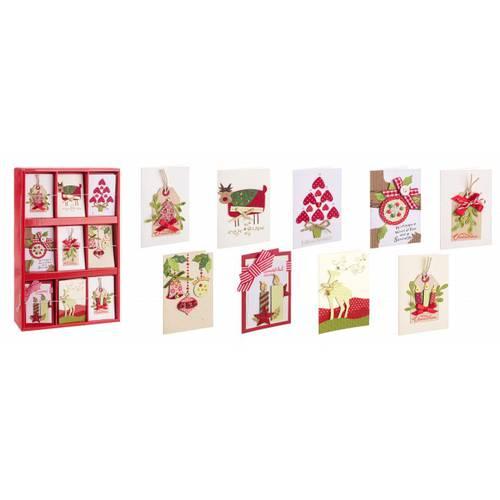 Biglietto auguri natalizio rosso merry christmas