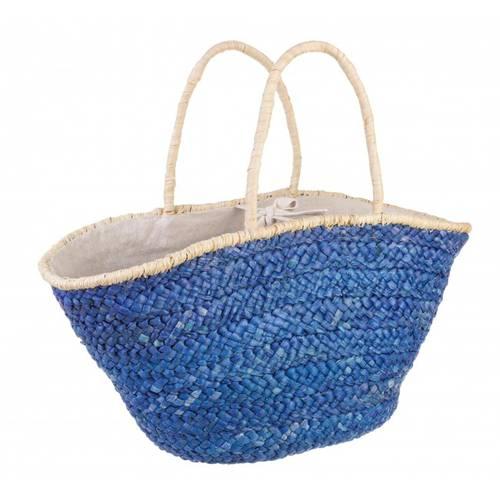 Borsa mare paglia colore blu
