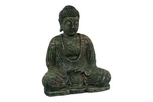 Buddha seduto in meditazione pietra verde