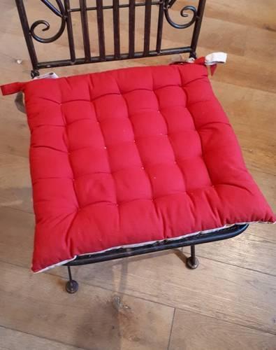Cuscino per sedia rosso 40x40