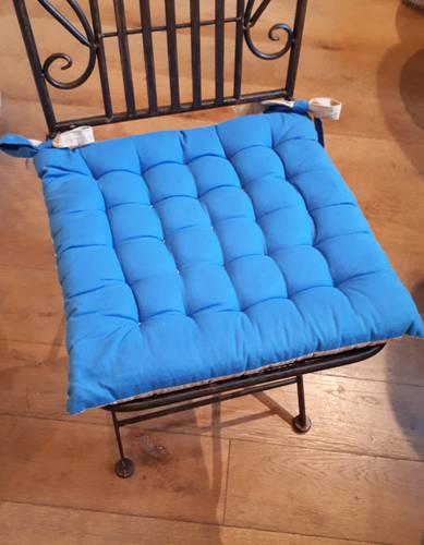 Cuscino per sedia blu 40x40
