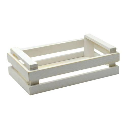 Cassetta legno bianco 24x14