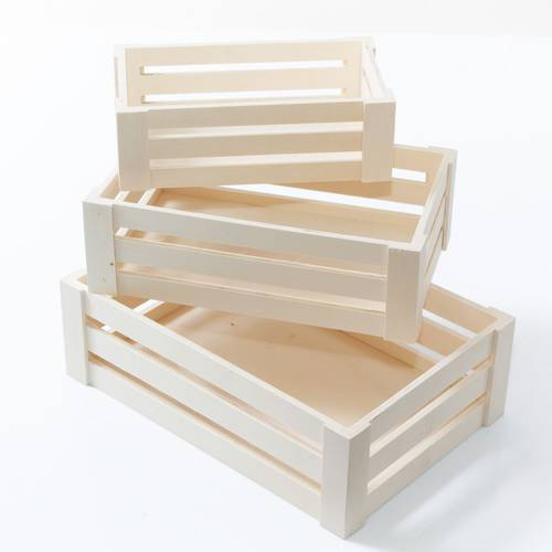 Cassetta legno naturale tipo frutta