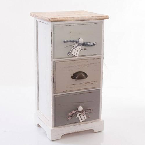 Cassettiera house legno grigio 3 cassetti