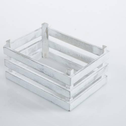 Cassettina legno bianco shabby 20x14