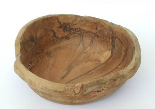 Ciotola legno teak bordo sottile cm30