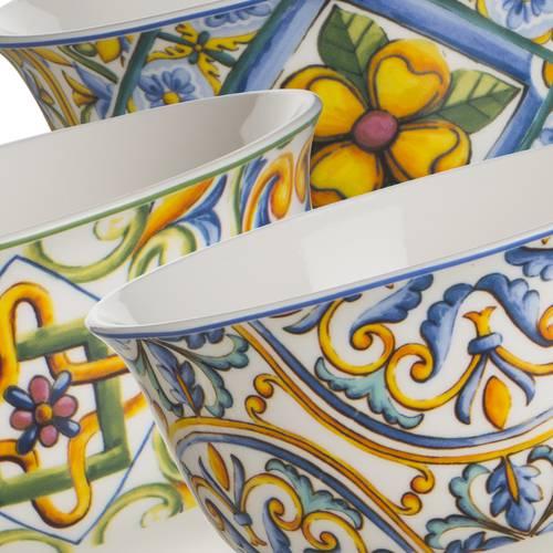 Ciotoline maiolica porcellana set 6pz