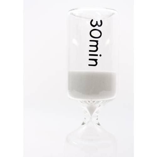 Clessidra cilindro vetro sabbia bianca 30 minuti