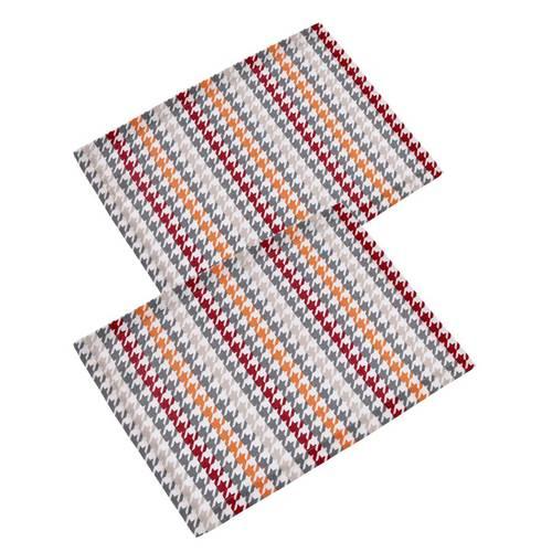 Coppia tovaglietta americana cotone colorato geometrie