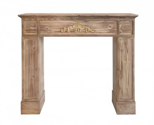 Cornice camino legno naturale con festone cm110