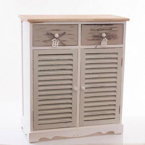 Credenza House 2ante 2cassetti legno grigio bianco
