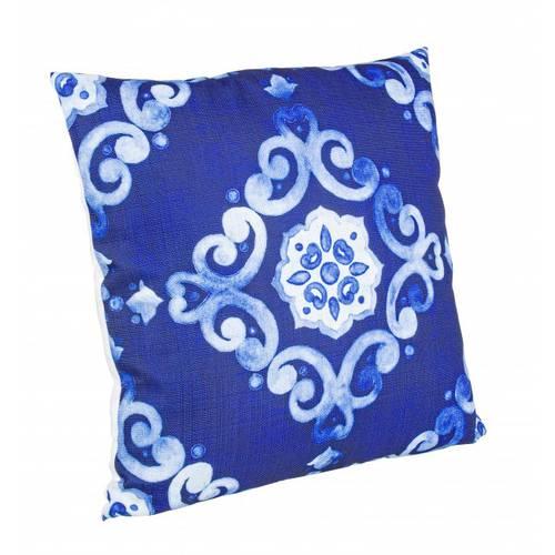 Cuscino arabesque sfondo blu 40x40