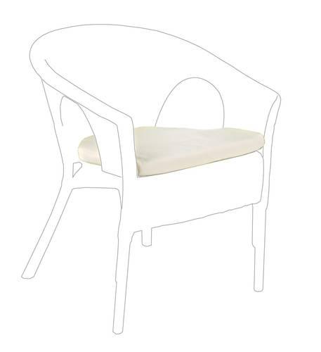 Cuscino per poltroncina midollino tinta ecru