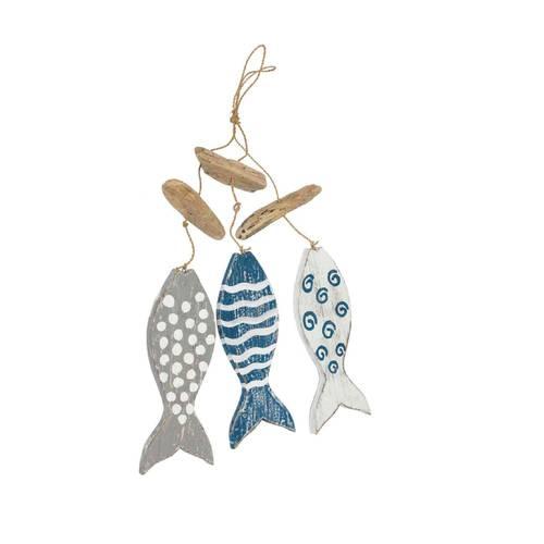 Decorazione 3 pesci disegno geometrico