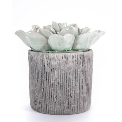 Decorazione vaso fiore turchese ceramica