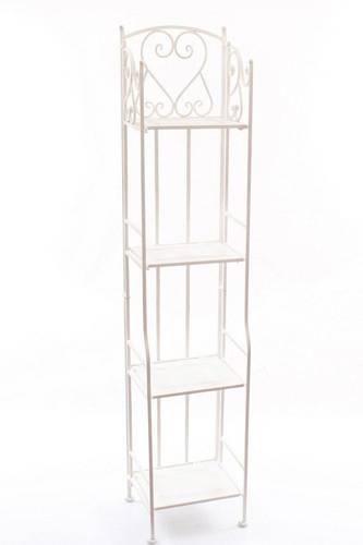 Etagère scaffale stretto ferro bianco 4 piani 154h